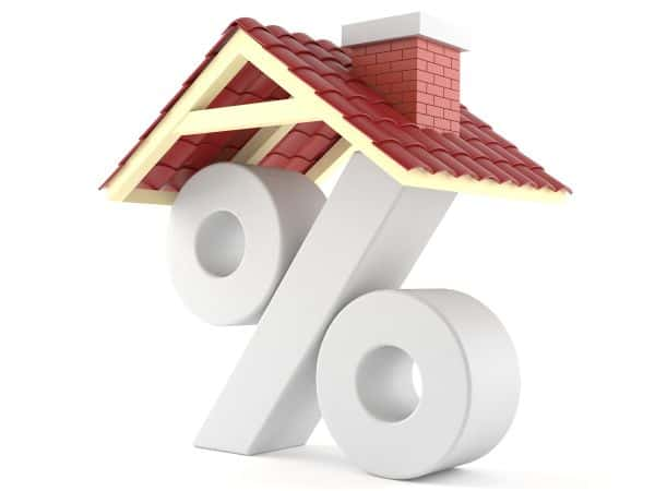 Roof Financing Percent Symbol With Roof On Top